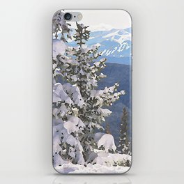 Flocked Tree - Breckenridge, Colorado - Watercolor Effect iPhone Skin