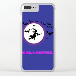 Full Moon Witch Clear iPhone Case