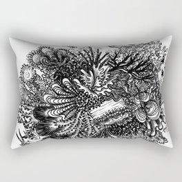 Coral Circle Rectangular Pillow