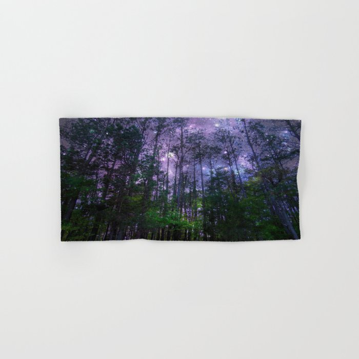Mystic Forest : Purple Space Hand & Bath Towel