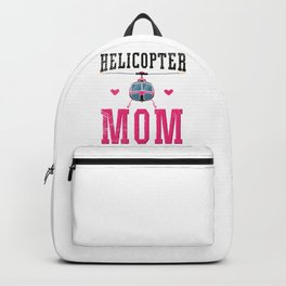 Helicopter Mom Aviation Pilot  Backpack