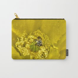 Rainy Day Cactus Flower Bee Carry-All Pouch