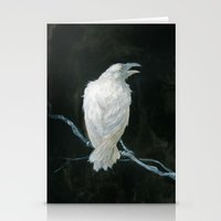 raven Stationery Cards featuring Raven by Jana Heidersdorf Illustration