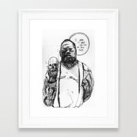 notorious big Framed Art Prints featuring Notorious BIG by Maddison