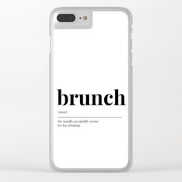 Brunch Clear iPhone Case