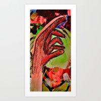 Extending Hand Art Print