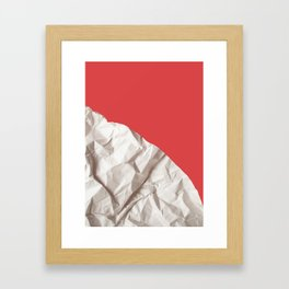 Abstract red paper background Framed Art Print