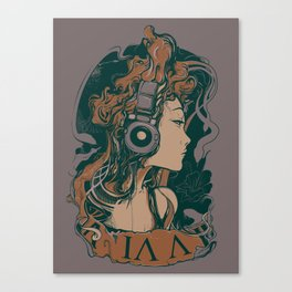 Medusa Turns TO Rock Canvas Print