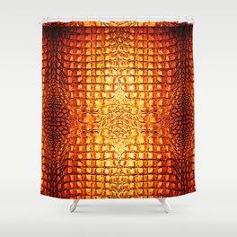 Alligator... Orange Shower Curtain