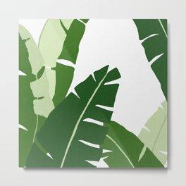 Watercolor tropical leaf XI Metal Print