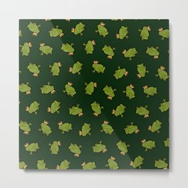 Frog Prince Pattern Metal Print