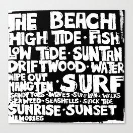 The Beach Subway Art Canvas Print