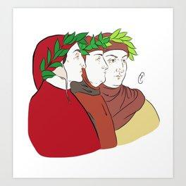 Dante, Petrarca & Boccaccio Art Print