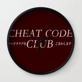 Cheat Code Club ( Join The Club) Wall Clock