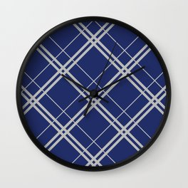 Ravenclaw Argyle Wall Clock