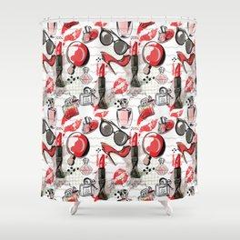 Fashionista Girl Shower Curtain