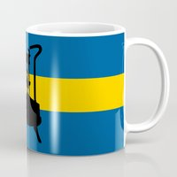 sweden Mugs featuring Sweden flag | Pressure stove by mailboxdisco