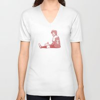 louis V-neck T-shirts featuring Footie Louis by pygmy