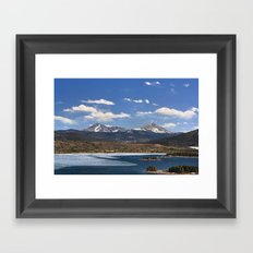 Dillon Reservoir is Thawing Framed Art Print