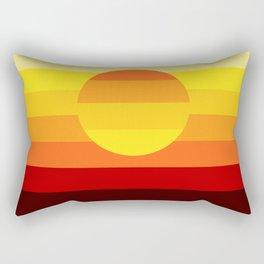 Sunset Stripe Rectangular Pillow