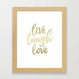 Live Laugh Love II Framed Art Print