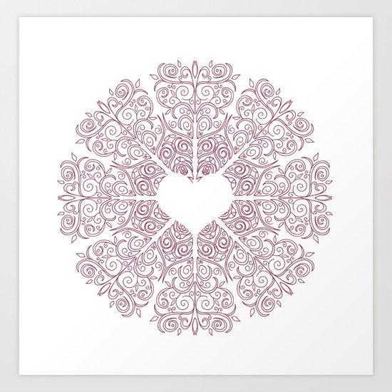 Love Lace Art Print
