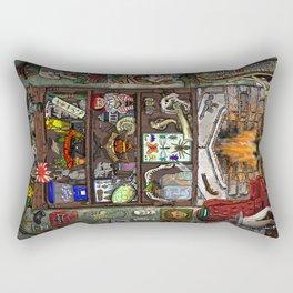Creepy Cabinet of Curiosities Rectangular Pillow