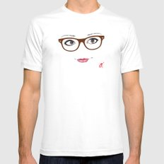 Hipster Eyes 1 White MEDIUM Mens Fitted Tee