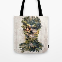 The Gatekeeper Surreal Dark Fantasy Tote Bag