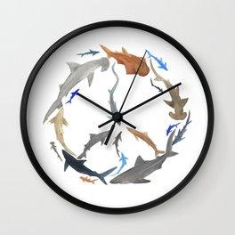 Peace for Sharks Wall Clock