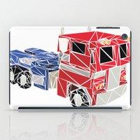 optimus prime iPad Cases featuring The Optimus Prime by Josh Ln
