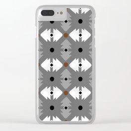 Modern Desert Fox Southwest Pattern Clear iPhone Case