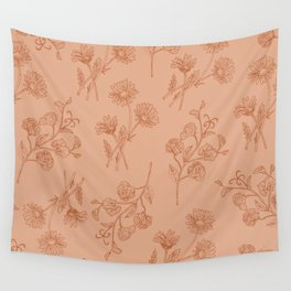 Vintage Daisy & Sweet Pea Wall Tapestry