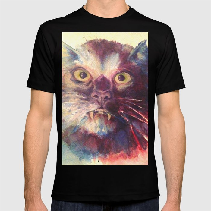 4192ee9c4 Vampire Cat, Watercolor Painting, Fang Kitty T-shirt by gigibunni | Society6