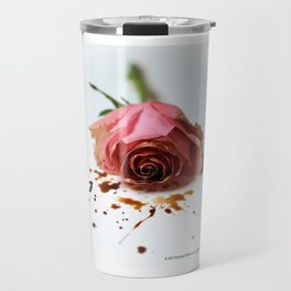 It All Started With A Cup Of Coffee - Pink Rose Travel Mug