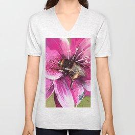 Bee on flower 13 Unisex V-Neck