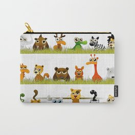Adorable Zoo animals Carry-All Pouch