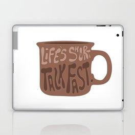 Life's Short Talk Fast in Orange Laptop & iPad Skin