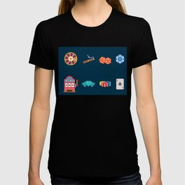 Roulette, Slots, Chips, Dice, Diamond & Cards - Nevada Day T-shirt
