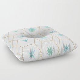 Geometric Succulents Floor Pillow