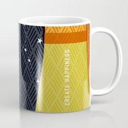 Create Happiness Modern Geometric Masculine Coffee Mug