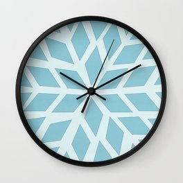 Light blue, diamond, mosaic pattern. Moroccan tile. Wall Clock