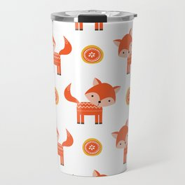 Orange Fox Travel Mug