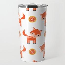 Orange Fox Travel Mug