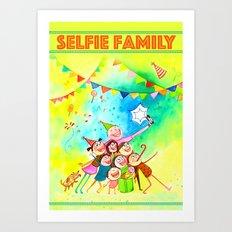 Selfie Family Art Print