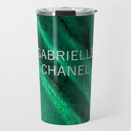 green velvet fabric gabrielle Travel Mug