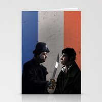 les miserables Stationery Cards featuring Les Miserables by Tori Poole