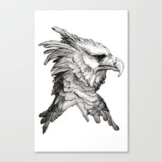 Hawk profile  Canvas Print