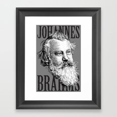 Johannes Brahms WB Framed Art Print
