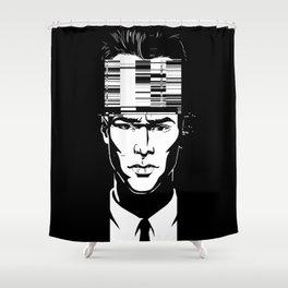 mnemonic_data_glitch_ Shower Curtain
